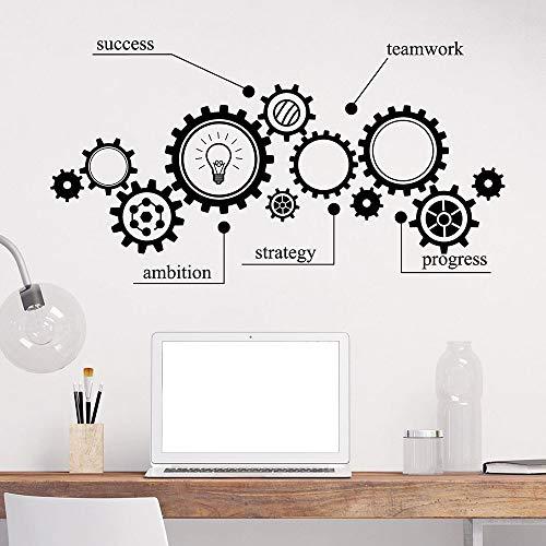 Tianpengyuanshuai muursticker, voor werk in het team, transmissie, opvoeding, ingenieurstechniek, vinyl, ramen, zelfklevend, kantoor, leren, klaslokalen, decoratie