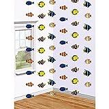 6 Fisch Deko Girlanden 6 x 213 cm, Motiv 5 x 10 cm Riff Raumdeko Meeres Dekoration Ketten Raumdekoration