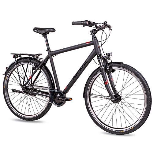 Airtracks City XXL Geavanceerd tot 150 kg fiets 28 inch stadsfiets CI.2850 Shimano Nexus 7 versnellingen naafdynamo Magura remmen - grijs mat - framehoogte 55 cm en 60 cm - model 2020
