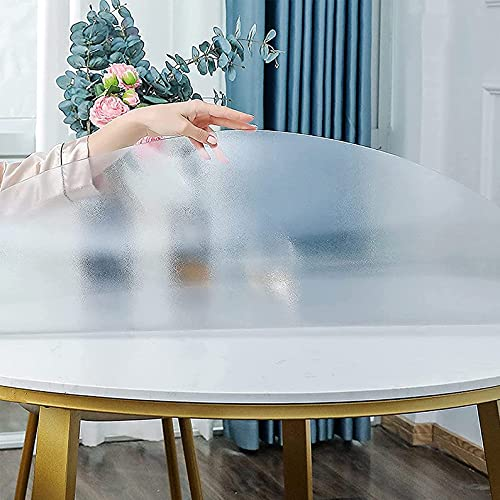 Transparente Manteles De Mesa,Mantel Protector De PVC,Espesor De 2 Mm Cubierta De Mesa De Comedor,redondo Mate Transparente Table Protector Table Cover,100%A Prueba De Agua Y Aceite,Ø 40-160cm