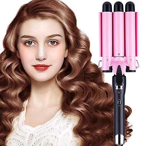 Hair Curling Iron 3 Barrel Wand Temperature Adjustable 25mm Hair Waver Curling Iron for Long or Short Hair