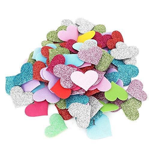 Hyuduo bunte herzförmige Verzierung Romantische Liebe herzförmige Konfetti glänzende Blume Fragmente für Raumdekoration, Hochzeit, Geburtstagsfeier