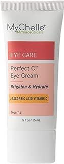 MyChelle Dermaceuticals Perfect C Eye Cream- Advanced Vitamin C Cream for Eye Area Brightening, Nourishment, Anti-Aging Formula, Vegan and Cruelty Free, EWG Verified, 0.5 fl oz