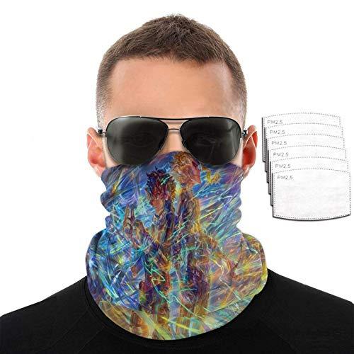 IUBBKI Deku + All Might Face Cover Transpirable Bandana Cuello Polaina Pasamontañas Bufanda para protección solar UV con 6 filtros