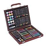 Yuqianqian Lápices de Dibujo de Arte Multicolor Juego de Arte para niños de 101 Piezas Lápices de Colores Lápices de Colores Estuche Dibujo Adolescentes Niños Paquete para Colorear y Artistas Adultos
