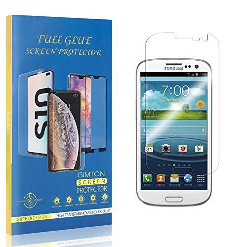 GIMTON Displayschutzfolie für Galaxy S3, 9H Härte Kratzfest Panzerglasfolie, Ultra Transparente Schutzfilm aus Gehärtetem Glas für Samsung Galaxy S3, 3 Stück