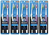 REACH Advanced Design Toothbrushes, Firm, 10-Count - Colors May Vary
