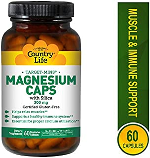 Country Life Magnesium 300 mg, 60 Capsules