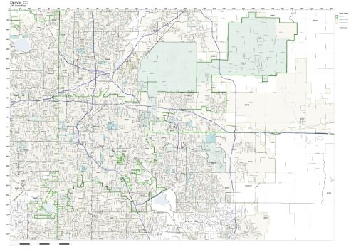 Working Maps Zip Code Wall Map of Denver, CO Zip Code Map Laminated
