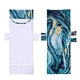 Funda para tumbona de playa con bolsillos, funda para silla de playa, toalla para tumbona, toalla de microfibra, secado rápido