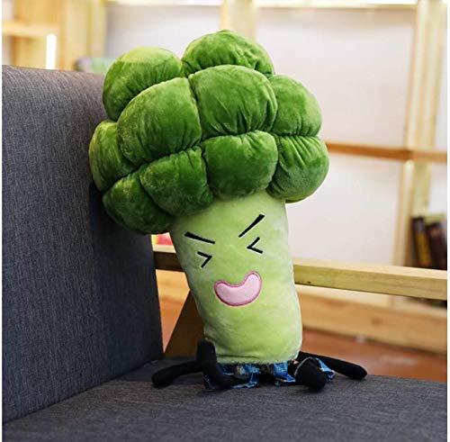 RKZM Simulation Gemüse Kissen Gefüllte Brokkoli Spielzeug Weiches Kissen Nette Kinder Baby Puppe Geschenk Kinderzimmer Dekoration 55 cm