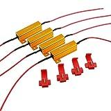 ARTR 50W 6ohm 負荷抵抗 車ウィンカー信号ライト LED電球 (4個)