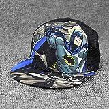 ZHXMI Unisex Kinderbaseballmütze Fashion Superman Spiderman Kindermützen Gorras Planas Jungen Hip Hop Hut Mesh Sommer Sonnenhut Snapback@Batman
