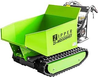 ZIPPER ZI-MD500HST Mini dump dumper Motor Skottkärra Gummi Kedja 6800 Watt Power Snow Blade