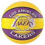 Spalding NBA Team L.A. Lakers - Balón de baloncesto, color amarillo
