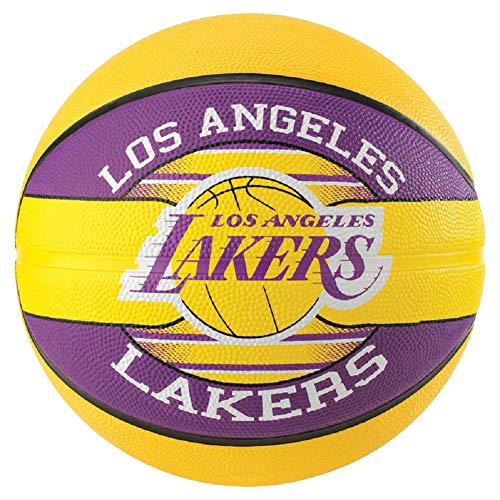 Spalding NBA Team L.A. Lakers - Balón de baloncesto, color amarillo