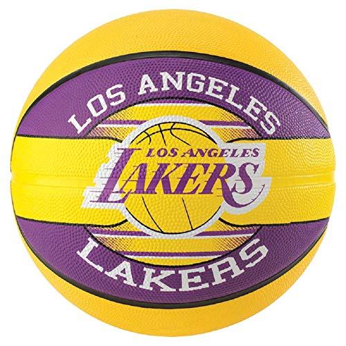 Spalding NBA Team L.A. Lakers - Pallone da basket, 7, colore: Giallo