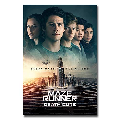 QAZEDC Dekorative Malerei Maze Runner Die Todesheilung Movie Poster Leinwand Gedruckt Wandkunst malerei Für Room Decor 60x80cm