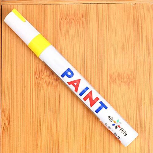 sympuk Bolígrafos de Pintura Blanca Proyectos de artesanía de Bricolaje Rotuladores de Pintura de neumáticos de Coche de Secado rápido para Pintura de Roca: Piedra, neumático, Metal: Cualquier Fine
