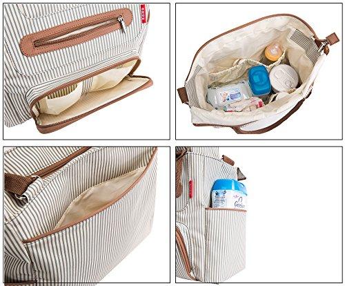SoHo Grand Central Station Diaper Bag 7Pc, Striped