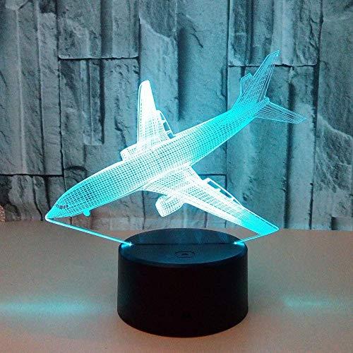 Landing Vliegtuig Kleurrijke 3D Lamp USB Led Touch Illusie 3D Nachtlampje Led 3D Licht armaturen