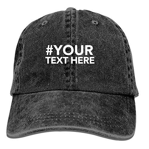 AINCIY Gorra de Camionero de béisbol, Idea de Regalo Personalizada Gorras de Golf para Hombre Ajustables de Vaquero para jóvenes Sombreros