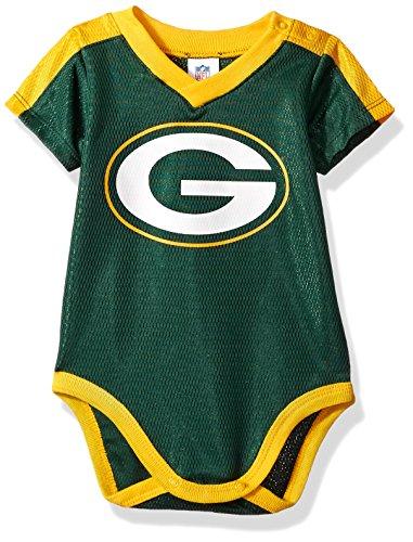 NFL Green Bay Packers Unisex-Baby Dazzle Bodysuit, Green, 0-3 Months