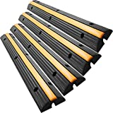 BLTPress 4 Pack Speed Bump 18000LBS Capacity Cable Protector Ramp Heavy Duty Traffic Wire and Hose Cable Ramps