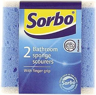 PACK 2 BATHROOM SPONGE SCOURERS