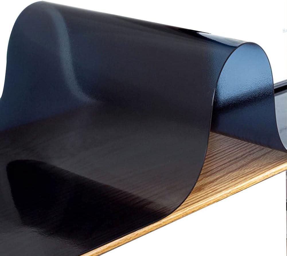 YJFENG Many popular brands Charlotte Mall Matte Black Tablecloth 2mm Pr Soft PVC Plastic Waterproof
