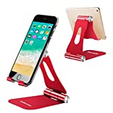 Adjustable Cell Phone Stand, YOSHINE Phone Stand : [Update Dual Foldable Version] Cradle