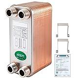 VEVOR Intercambiador de Calor de 40 Placas Soldadas Intercambiador para Calefacción