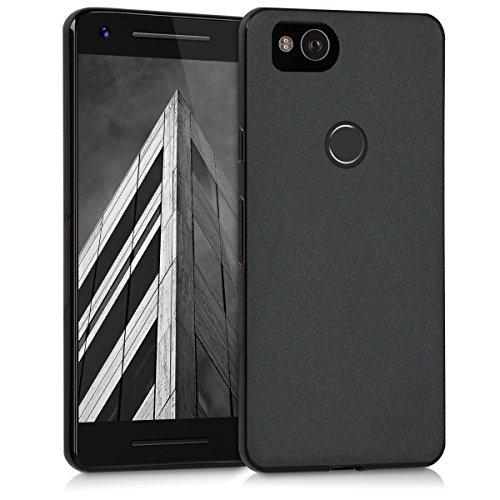 kwmobile Google Pixel 2 Hülle - Handyhülle für Google Pixel 2 - Handy Case in Schwarz matt