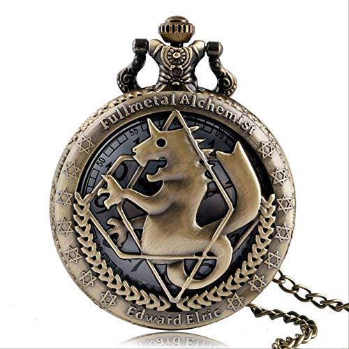 Tono De Bolsillo WatchSilver/Bronce Cadena Collar Colgante Diseño Muchachos Mejor Regalo