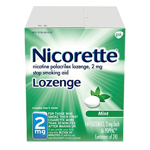 Nicorette 2 mg Nicotine Lozenges to Quit Smoking - Mint Flavored Stop Smoking Aid, 144 Count