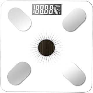 ZONJIE 1 Pc Báscula de Grasa Corporal Bluetooth, Báscula de Baño de Peso Corporal Digital Báscula con Aplicación de Báscula Inteligente Bmi para Seguimiento de Fitness (Blanco)