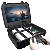Case Club Waterproof Xbox One X/S Portable Gaming Station with Built-in Monitor & Storage for...