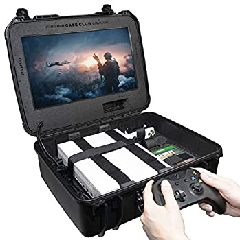Case Club Waterproof Xbox One X/S Portable Gaming Station with Built-in Monitor & Storage for Controllers & Games Gen 2