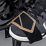 A/O Almohadilla de Cambio para Motocicleta, Cubierta Protectora para Botas de Calzado para Motocicleta, Protectores de Goma para Palanca de Cambios (se Puede Elegir en Negro y marrón)