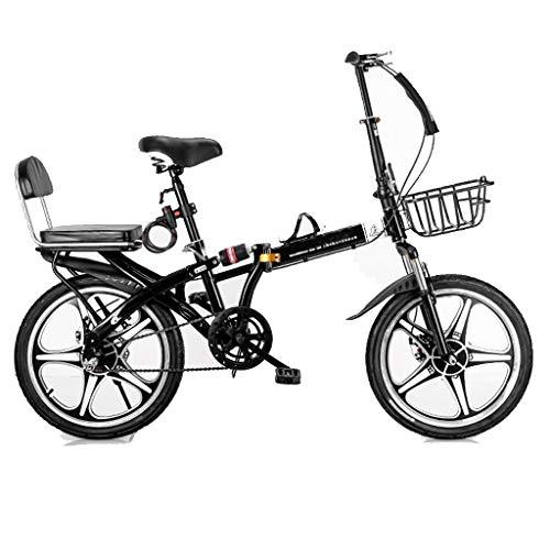 ZHEDYI Bicicleta Plegable, 16in / 20in Bicicletas De Una Sola Velocidad De...