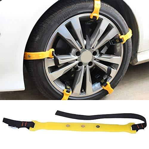 Delaman Cadenas de nieve antideslizantes para neumáticos de invierno, 185 – 225 mm, 10 unidades