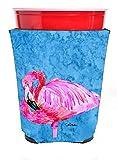 Caroline's Treasures 8686RSC Bird - Flamingo Red Solo Cup Beverage Insulator Hugger, Red Solo Cup, multicolor