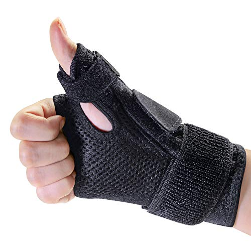 Kimihome Thumb Spica Splint, Thumb Wrist Stabilizer for Pain Relief, Tendonitis, Sprained and Carpal Tunnel Supporting, Thumb Spica Splint Fits Both Left and Right Hands