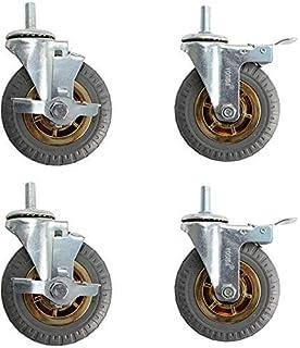 Universeel zwenkwiel met zijden tanden 4-delige vervangende wielen met remmen Rubberen lagers 100 kg rollen Slijtvaste zwa...