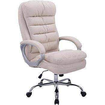 Fauteuil de Bureau Réglable en Hauteur XXL Vancouver Tissu I Chaise de Bureau à Roulette Rembourrée Confortable avec Accoudoirs I Couleur:,