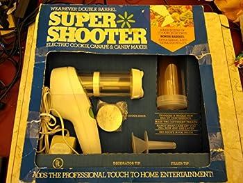 Wearever Double Barrel Super Shooter Electric Cookie Canape & Candy Maker with Idea Book Recipe Cookbook