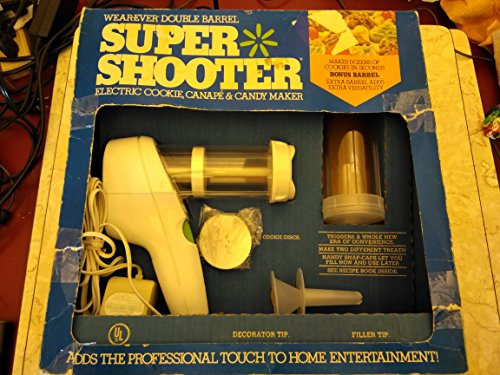 Wearever Double Barrel Super Shooter Electric Cookie, Canape & Candy...