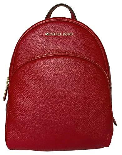 Michael Kors Abbey Medium Genuine Pebble Leather Scarlet Red