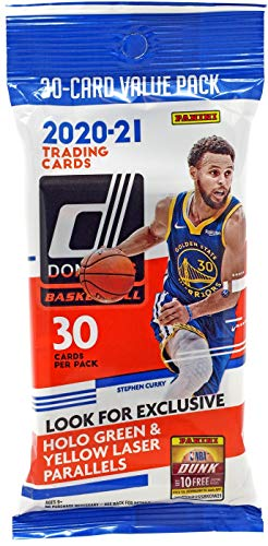 2020-21 Panini NBA Donruss Basketball Cello Pack - 1 Pack of 30 Cards