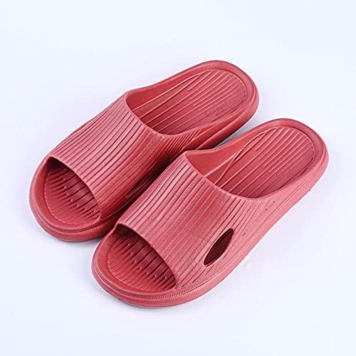 Baño de Sandalia al Aire Libre,Zapatillas Frescas de baño de Verano para Mujer, Zapatos Antideslizantes de Fondo Suave y no apestosos, Rojo Vino_40-41,Sandalias con Tira Trasera